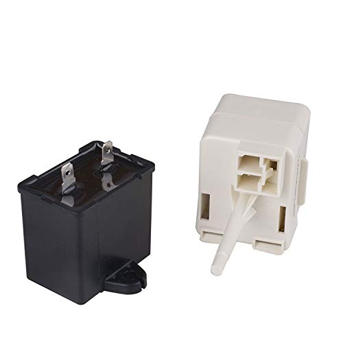W10613606 Refrigerator Compressor Start Relay and Capacitor for Whirlpool KitchenAid Kenmore Fridges replace W10416065 67003186 PS8746522