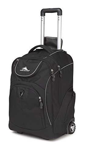 High Sierra 53992-1050 Powerglide Wheeled Backpack, Black