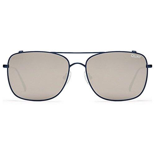 Quay Weekend Warrior Sunglasses | Aviator Frames | UV Protection (Navy, - Quay Silver