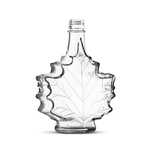 - Glass Maple Syrup Jars with Tamper Evident Caps, 100ml Maple Leaf Design