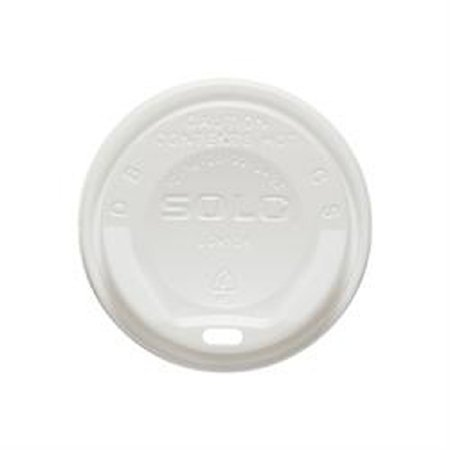 SOLO Cup Company Gourmet Dome Sip-Through Lid, 12-24oz Cups, White - Includes 12 packs of 125 each.