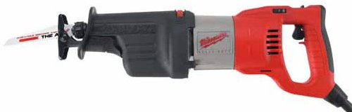 Corded Electric Reciprocating Saw (Milwaukee Electric Tool 6523-21 - Sawzall Corded Reciprocating Saw - 13 A, 1-1/4 in Stroke Length, 3000 spm Maximum Speed)