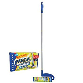 Evercare Mega Cleaning Roller With 3-Foot Extendable Handle,25 sheets - Pack of 4 by Evercare