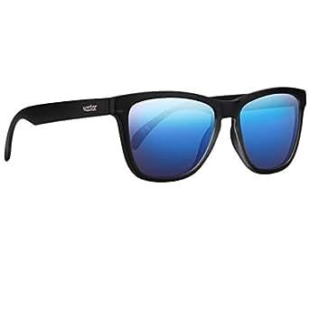 NECTAR Polarized Wayfarer Sunglasses for Men & Women with UV Protection | Over 20 Styles (Black Frame | Blue Mirror EuphoricHD Polarized Lenses)