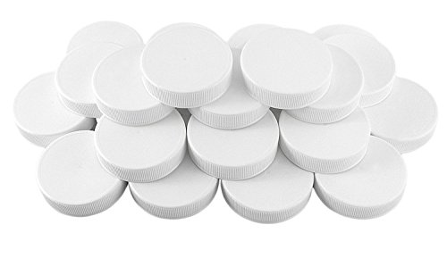 White Plastic Standard Mason Jar Plastic Lids-24 Lids; Regular Mouth Storage Caps (24-Pack) ()