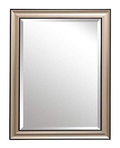 JIANGLI Bathroom Mirror, Wall-Mounted Vanity Mirror, Square Border, Bathroom Decoration Mirror (Size -