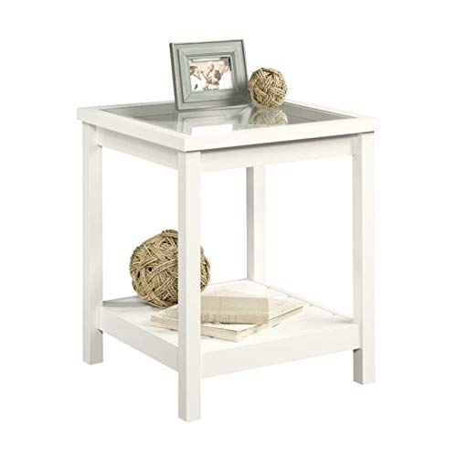 Sauder Cottage Road Side Table, Soft White finish (Cottage Collection The)