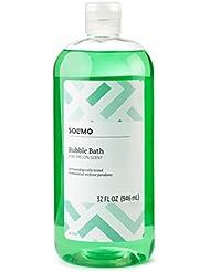 Amazon Brand - Solimo Bubble Bath, Kiwi-Melon Scent, Dermatologically Tested, 32 Fl Oz, Pack of 2