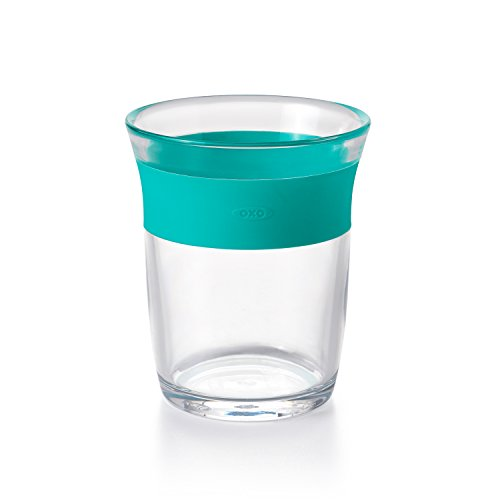 OXO Tot Cup for Big Kids with Non Slip Grip, Teal (Gyroscopic Bowl)