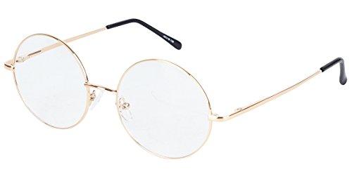 d45ceed340 Agstum Round Retro Metal Prescription Ready Glasses Frame Clear Lens ...