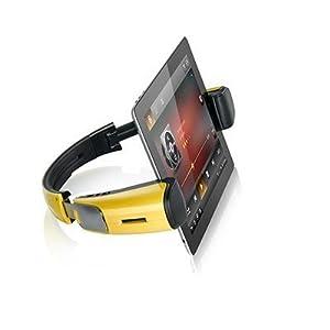 ワイヤレススピーカー機能内蔵 タブレットスタンド 「WizSpander」 Yellow