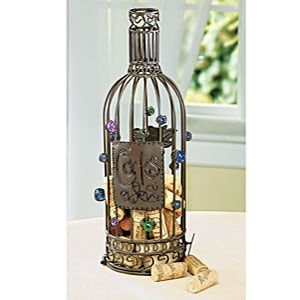 Wine cork collection cage wine bottle cork for Bar decor amazon