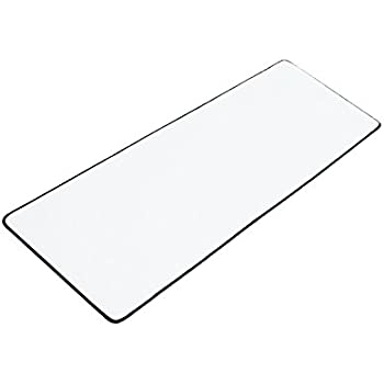 Gaming Mat / Mouse Pad / Work Surface - Non-slip Rubber Base with Stitched Edges (Large, White)