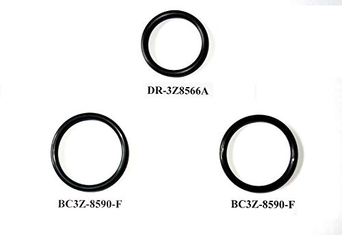 (3 O-Ring Gaskets for Ford F150 5.0L Engine Radiator Hose And T-pipe coolant leak Repair/Replacement DR3Z8566A & 2x BC3Z8590F)