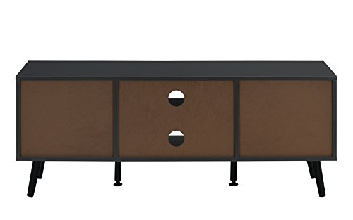 Living Room Divano Roma Furniture Mid Century Modern TV Stand (Grey) modern tv stands