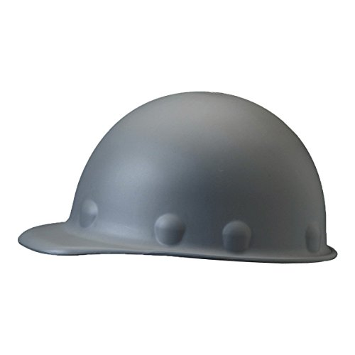 Vented Carbon Fiber - Fibre-Metal by Honeywell P2AW09A000 Super Eight Fiber Glass Tab Lok Cap Style Hard Hat, Grey
