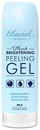 Ebanel Face Scrub Face Exfoliator Facial Peeling Gel, 122ml Microdermabrasion Scrub to Remove Dead Skin when Hydrating, Added Vitamin C,E,Peptide for Brightening Moisturizing Radiant Silky Skin (Best Gentle Face Exfoliator)