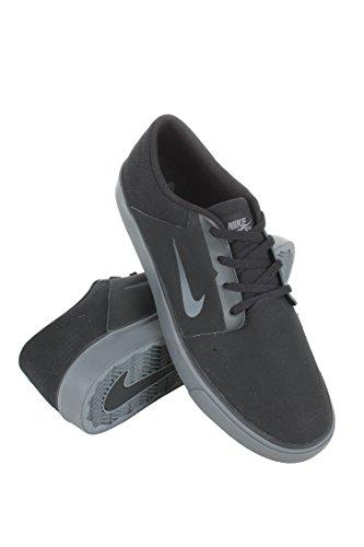 Nike Sb Portmore Nubuck Uomo Scarpe Nero Grigio Scuro 746743-020 (8)