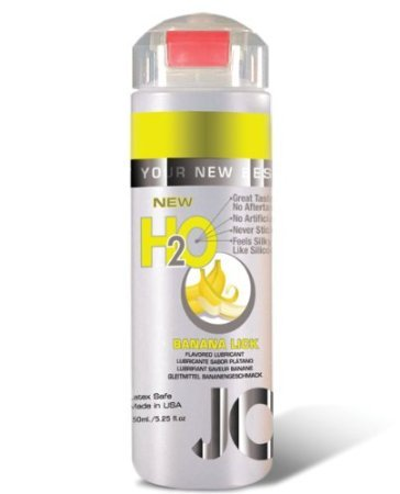 Jo H2O Flavored Intimate Lubricant, 4 fl.oz Banana Lick