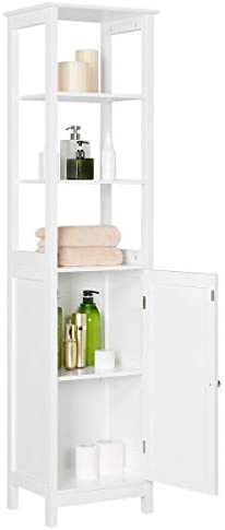 picture of Yaheetech Bathroom Floor Cabinet, Wooden Tall Storage Cabinet - 3