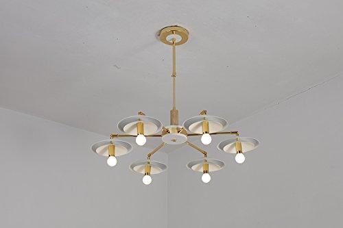現代的なシャンデリアの鉄の芸術リビングルームライトベッドルームダイニングエリアシンプルなスタイリッシュなシャンデリアlu205442py (Color : 6head) B07K2DTC9K 6head