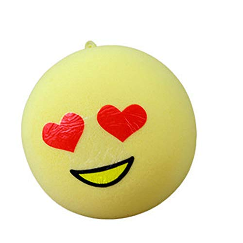 Wenini Cute Squishies Emoji Slow Rising Toy, Kawaii Cream Scented Stress Relief Kawaii Toys for Kids and Adults (Yellow❤️)