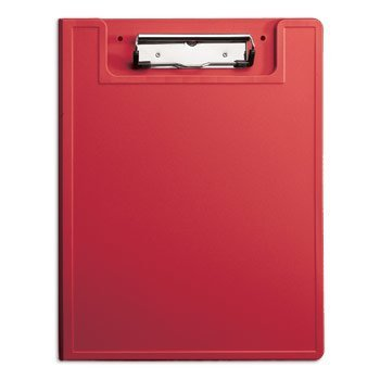Low-Profile Nursing Clipboard with HIPAA Privacy Cover (Red)