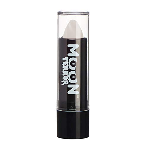 Moon Terror - Halloween Lipstick makeup - 0.17oz - Easily create spooky designs like a pro! Perfect for vampire, ghost, skeleton, witch, pumpkin, monster etc - Wicked White
