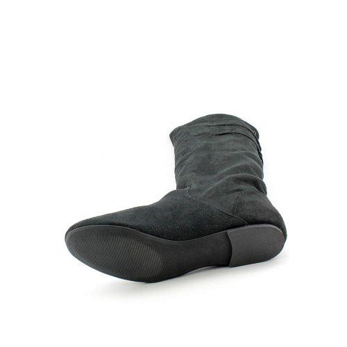 Materiale Ragazza Bonita Donna Taglia 8 Stivali Moda Al Ginocchio In Tessuto Nero