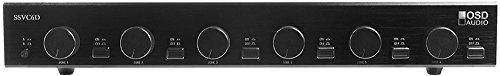 OSD Audio SSVC6-D Dual Source 6-Zone Speaker Selector with Zone Volume (4 Zone Dual Source Speaker)
