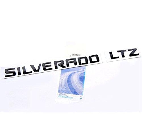 Yoaoo® OEM Black Silverado LTZ Emblem Nameplate Letter Badge Alloy Original Silverado Chevrolet Glossy