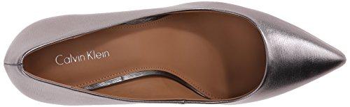 Calvin Klein Gayle Heels Anthracite Metallic Birch Leather H4NOo2k