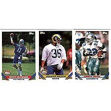 (1993 Topps Football Series Complete Mint Hand Collated 660 Card Set. Loaded with Stars Including Emmitt Smith, Troy Aikman, Jerry Rice, Brett Favre, Dan Marino, Joe Montana and More! Rookie Cards Include Drew Bledsoe, Jerome