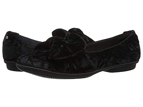 CLARKS Women's Gracelin Jonas Loafer Flat, Black Velvet Textile, 050 M US