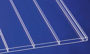 Acryl Stegplatten Hohlkammerplatten Panorama klar 2000 x 980 x 16 mm (63,01 EUR/qm)
