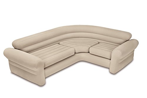 Intex Inflatable Corner Living Room Neutral Sectional Sofa |