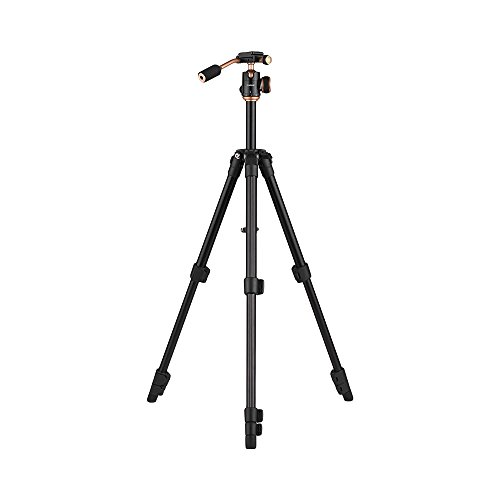 Andoer Q160S Aluminum Alloy Camera Video Tripod Lightweight Travel 3-Section Tripod Flip Buckle Design with 1/4'' Screw Mount for Canon Nikon Sony Pentax DSLR ILDC Cameras Max. Load Capacity 3kg Max. by Andoer