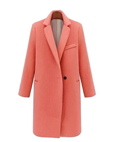 Button RkBaoye AS5 Long Warm Down Coat Woolen Collar One Womens Overcoat Turn Winter Srrptq