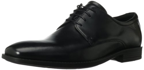 Ecco Mens Edinburgh Plain Toe Tie Oxford Black