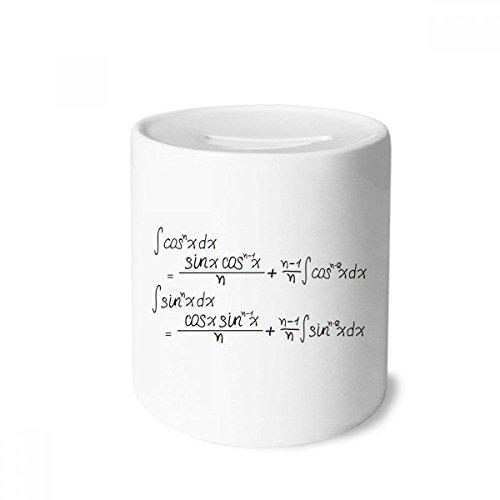- DIYthinker Math Kowledge Cosine Integral Formula Money Box Saving Banks Ceramic Coin Case Kids Adults