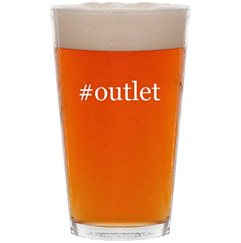 #outlet - 16oz Hashtag All Purpose Pint Beer Glass (Stores Outlet Bourke Dooney &)