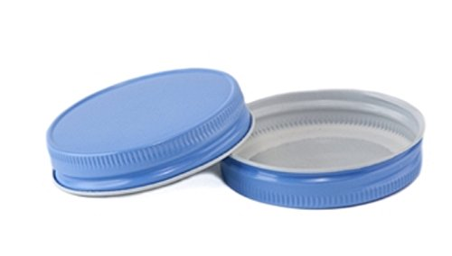 (12 Pack) Mason Jar Lids - Regular Mouth - Canning, Showers, Weddings, Party Favors (Sky Blue)