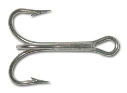 Mustad 3551 Classic Treble Standard Strength Fishing Hooks | Tackle for Fishing Equipment | Comes in Bronz, Nickle, Gold, Blonde Red, [Size 6/0, Pack of 25], Duratin
