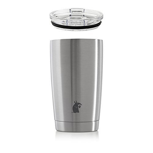 (Thirsty Aardvark 16 oz Pint Tumbler, Double Wall Vacuum Insulated, Stainless Steel Silver Cup with Lid (Silver, 16 oz))