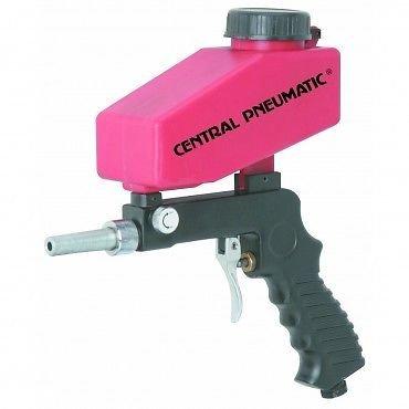Gravity Media Sand Blaster Gun for Spot Rust Remover w/ 2 Oz Hopper