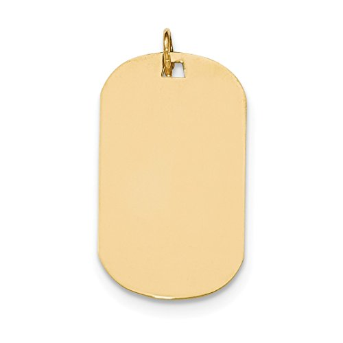 ICE CARATS 14kt Yellow Gold Plain .027 Gauge Engraveable Dog Tag Disc Pendant Charm Necklace Engravable Fine Jewelry Ideal Gifts For Women Gift Set From Heart Engravable Dog Tag Charm