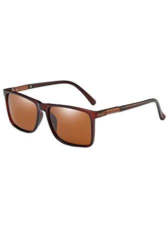 Gafas Classic Brown Hombres De Sol Conduciendo Para De Polarizadas Gafas UV400 Sol BBaqwr5