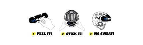 No Sweat Bike / Cycling Helmet Liner Moisture Wicking Sweatband Absorbs Dripping Sweat (Hypoallergenic, thin, soft & lightweight)