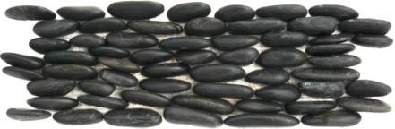 Standing Polished Black Pebble Tile, (Polished Pebble Tile)