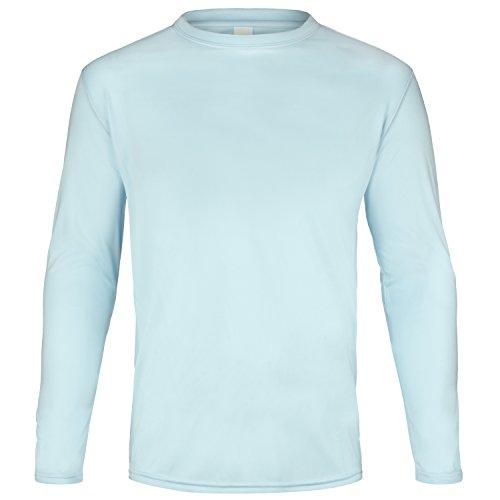 Protection Part - Ban The Sun Men's UPF 50+ UV Sun Protection Long Sleeve Performance Shirt (XL, Arctic Blue)